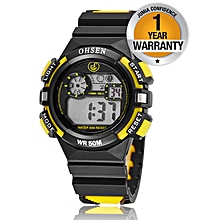 Kids Sports Watch - Black and Yellow