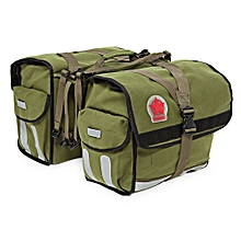Durable Water Repellent 2 in 1 Bicycle Rear Pannier Bag with Reflective Stripe - Army Green
