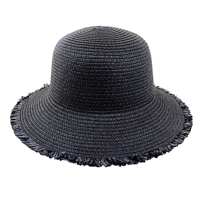 175f83b96 Womens Sun Hat Foldable Straw Hat UPF 50 Protection for Fashion Summer  Beach Hat 6 colours(Black)