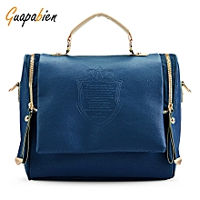 3031c5d140 Guapabien Vintage Female PU Leather Shoulder Crossbody Bag for Women-DEEP  BLUE