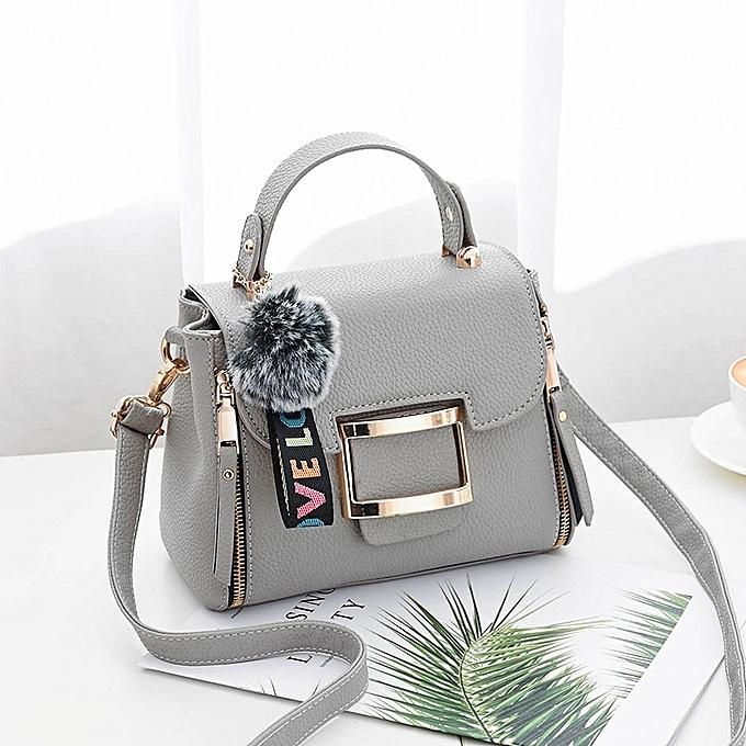 Light Grey Ms Simple And Versatile Personality Fashion Handbags Women S Bag Messenger