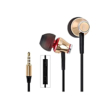 MJ900 - Headphones Mic Creative Metal Housing Low Mass - Gold
