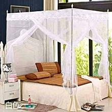 Mosquito Net with Metallic Stand - 4x6 - White