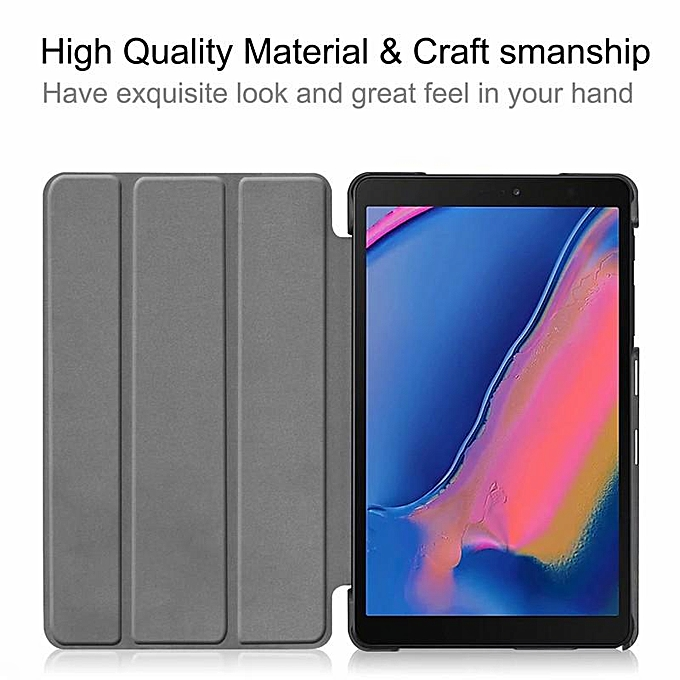 super popular 5cd1d e5904 PU Leather Slim Case Cover For Samsung Galaxy Tab A 8.0 2019 S-Pen SM-P200  SM-P205 8 inch