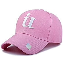 Sports Golf Leisure Hats U Letter Embroidery Sport Cap For Men And Women(Pink)