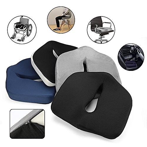Car Chair Seat Cushion Pillow For Sciatica Prostate Hemorrhoid Tailbone ColorWhite Black