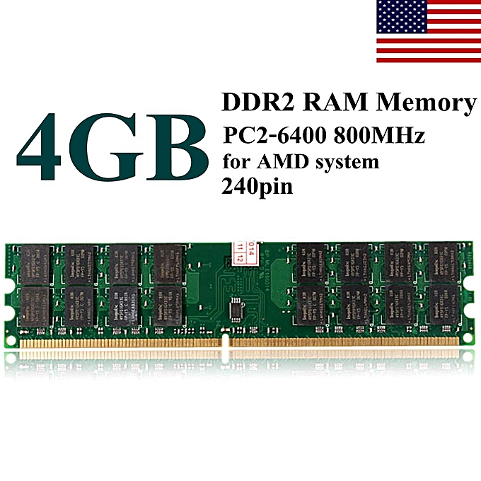 Buy Generic Memoria Ram 4gb Ddr2 800mhz Pc2 6400 240 Pin Desktop Pc