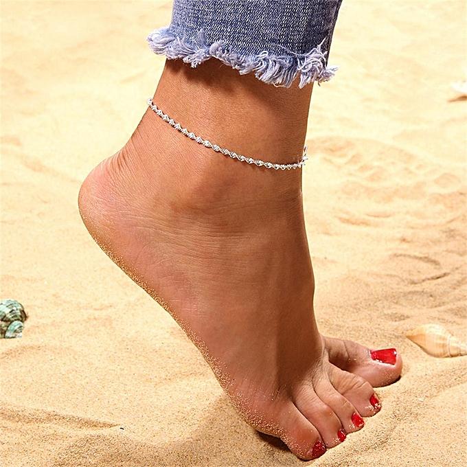 Ankle Bracelet Women Anklet Adjule Chain Foot Beach Jewelry