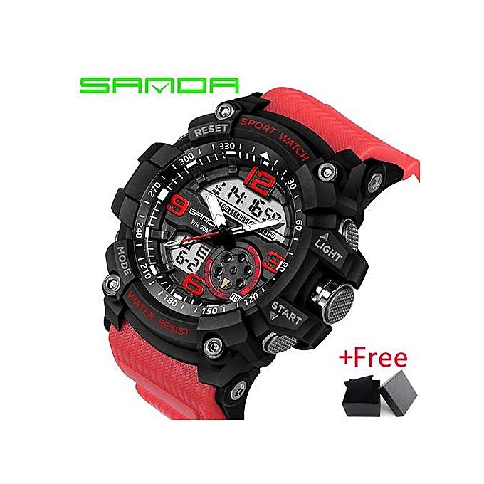2017 SANDA Military Watch Men Waterproof Sport Watch For Mens Watches Top  Brand Luxury Clock Camping 02fe7ea8fe21