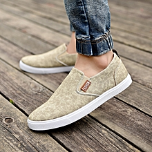 canvas rubber shoes Sneakers brown