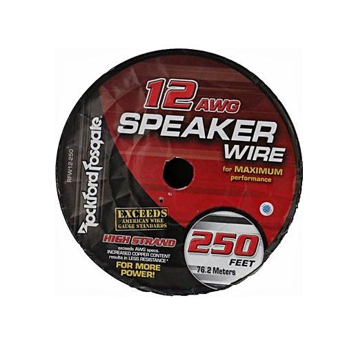 Rockford fosgate 12 awg speaker wire 250 foot spool frosted black 12 awg speaker wire 250 foot spool frosted blacksilver greentooth Choice Image