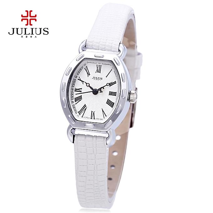 Leadsmart Julius JA - 544 Women Quartz Watch Irregular Wave Pattern Dial Slender Strap 3ATM Wristwatch