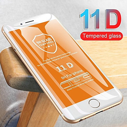 info for 444f9 2636a 11D Curved Edge Protective Glass on the For iPhone 7 8 6 6S Plus Tempered  Screen Protector For iPhone 8 7 6 6s Plus Glass Film(Color White)