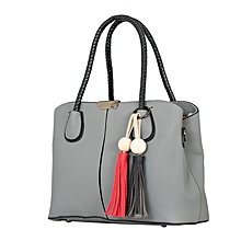 Grey PU  Leather Hand  Bag