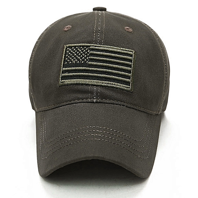 New Men USA Flag Camouflage Baseball Cap Army Embroidery Cotton Tactical  Snapback Dad Hat Male Summer Sports America Trucker Cap(Acu Camouflage)