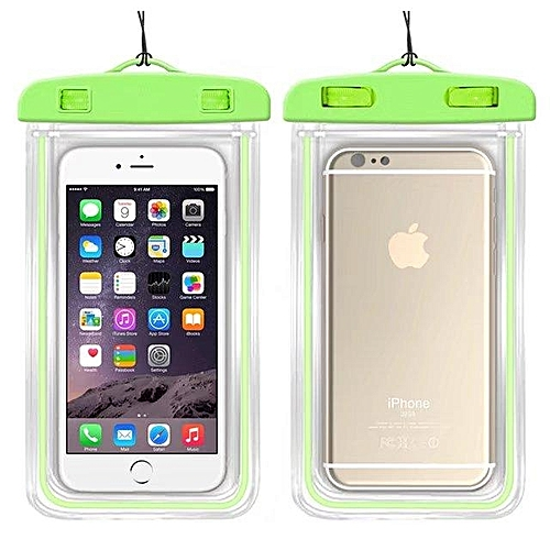 best service cddbe c3b76 Waterproof Phone Bags For Huawei P20 Lite Soft Clear Pouch Case Sport  Diving (Green)