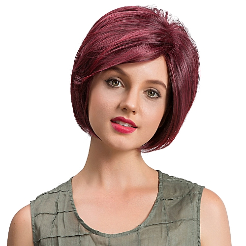 Zlime Natural Straight Short Hair Fluffy Wigs Short Women s Fashion Wig New  C 239a73f890ee