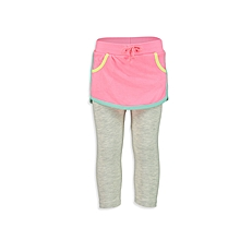 Pink and Grey Fashionable Leggings