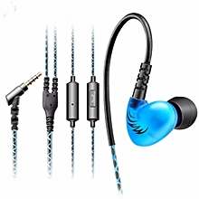 QKZ C6 In ear Sport Heavy Bass HIFI Sound Waterproof Headphones With Microphone