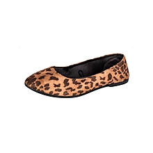 Animal Printed Pointed Doll Shoes