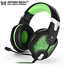 EACH G1000 PC Gaming Bass Stereo Headset Microphone LED Light Laptop Computer