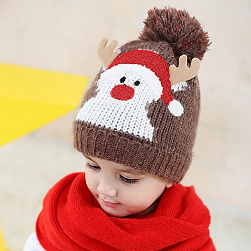 ... reduced jiuhap store baby kids beanie for boys girls cap cotton knitted ball  warm christmas hats 402571c876e9