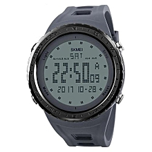 1246 Brand Men Sports Watches Waterproof Digital LED Military Watch Men Outdoor Wristwatches - Grey