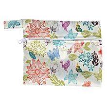 Washable Wet Bag + 6PCS Reusable Bamboo Cloth Sanitary Menstrual Pads Panty Liner