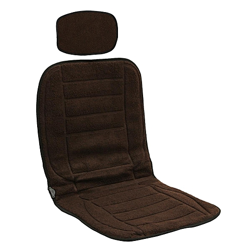 12V Car Seat Heat Cushion Plush Cover Electric Winter Pad 4 Colors Coffee