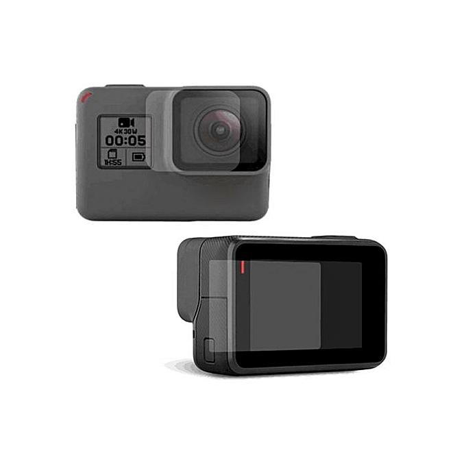 aef539818d39 Screen Protector + Camera Lens Film Set For Gopro Hero 5 / Gopro Hero 6