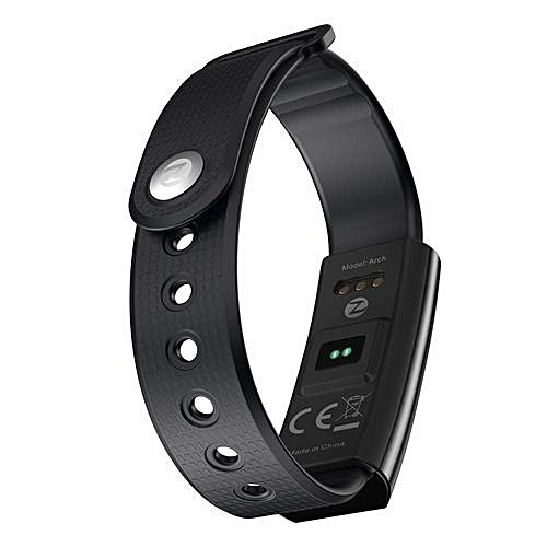 buy online 7db04 d276e Zeblaze Arch Blood Oxygen Pressure Heart Rate Sleep Monitor Smart Watch For  IPhone 8 Android IOS Black