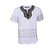 African Shirt - White