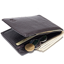 Men's Wallet Leather Wallet Coin Bag Wallet-black