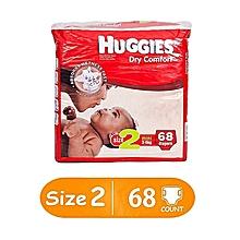 Dry Comfort Diaper Size:2 (3-6Kg) - 68 Diapers