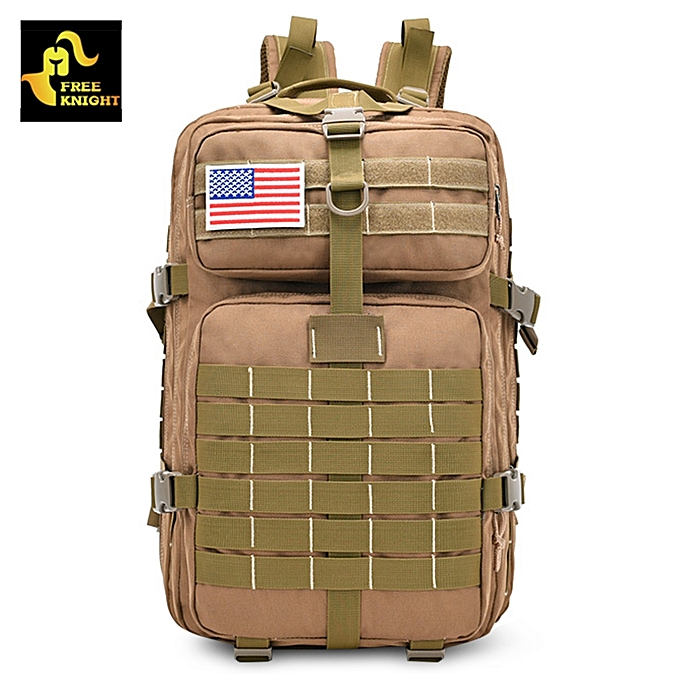43f3feb19e449 Military Tactical Backpack Assault Pack Army Bag - Brown