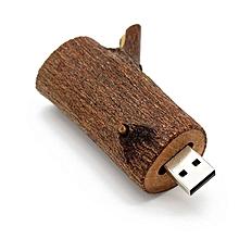 Unique Wood Branch Shape USB2.0 Flash Drives High Speed Memory Stick U Disk wood color