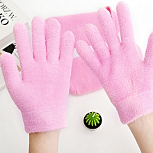 Pink Feather Yarn Beauty Gel Moisturizing Gloves and Socks Gloves