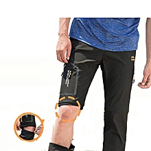 Mens Outdoor Elastic Detachable Sport Pants Water-repellen Quick Drying Breathable Hiking Trouser