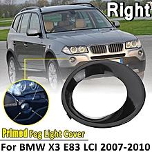 Right Primed Black Fog Driving Light Cover Trim For BMW X3 E83 LCI 2007-10