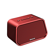 Baseus Bluetooth Speaker Mini Portable Outdoor Wireless Speaker 3D Stereo Music Surround Player (Red) FCJMALL
