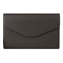 Guapabien Trendy Pure Color PU Envelope Clutch for Women