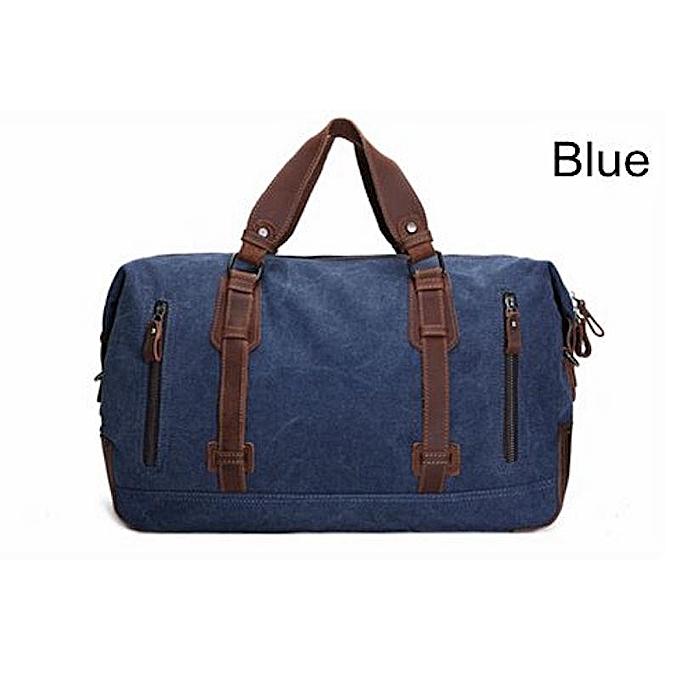 97406a1d15 Fashion BLUESEBE HANDMADE WAXED CANVAS TRAVEL DUFFLE BAG AF11   Best ...