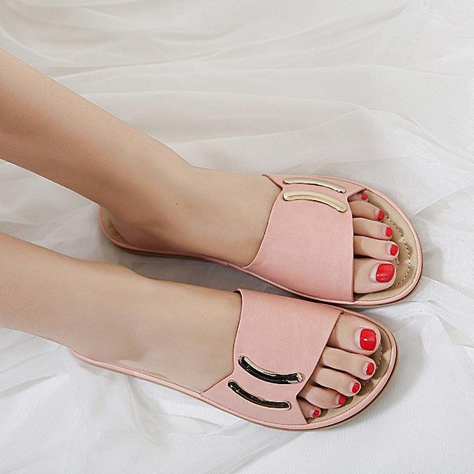 1b431e4e7fb9cc Hiamok Summer Fashion Women Flat Sandals Flips Flops Womens Casual Leather  Sandals Shoe ...