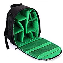 Nylon Waterproof SLR Camera Bag Burglarproof Photograph Simple Mini Backpack With 3 Colors#green