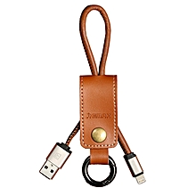 Remax Western Cable RC034i Leather keychain design For Apple Iphone 5/6/IPAD - Brown DIOKKC