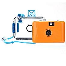 Underwater Waterproof Mini 35mm Film Camera Purple -Orange