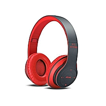 Wireless Bluetooth 4.2 Stereo Headphone Headset P15 For Mobile Phones  -Red