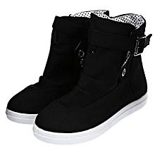 Ladies Dunk High Canvas Shoes - Black