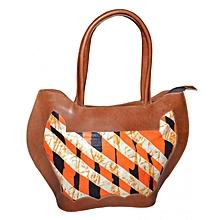 Orange Kitenge Mix Handbag