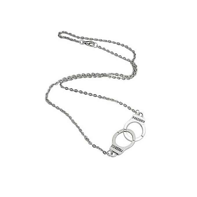 Bluelans womens handcuff necklace silvery charm pendant choker womens handcuff necklace silvery charm pendant choker chain jewelry aloadofball Image collections